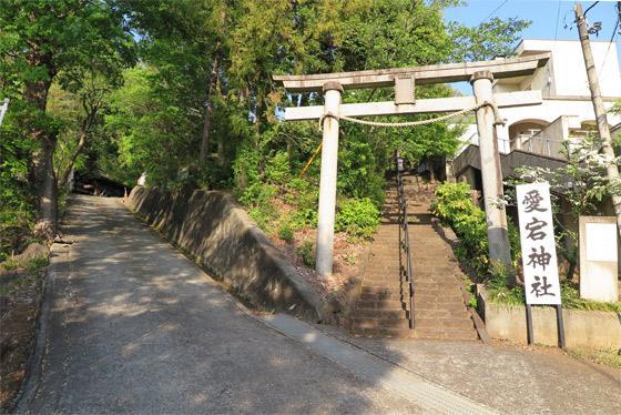 山梨県愛宕神社の鳥居