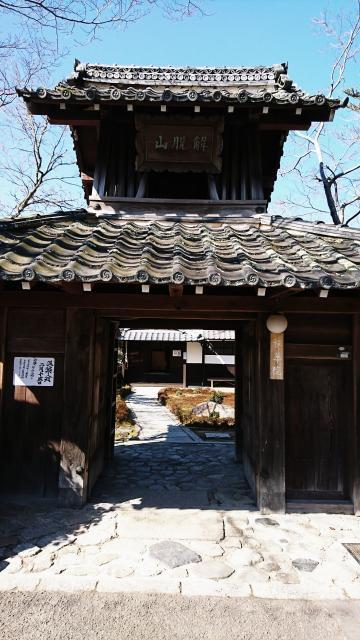 禅華院の山門