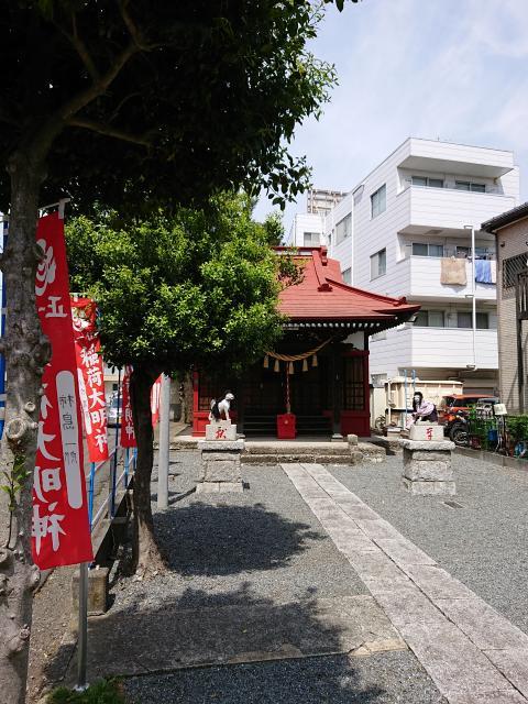 神奈川県谷口山野稲荷神社の本殿