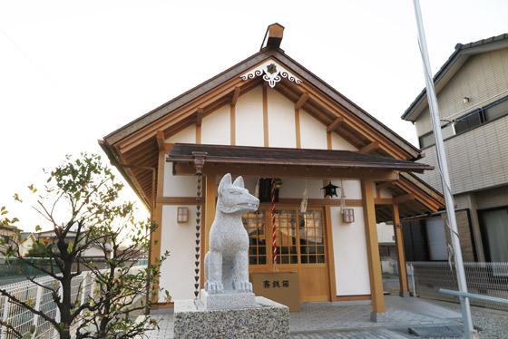山梨県笠森稲荷大神社の狛犬