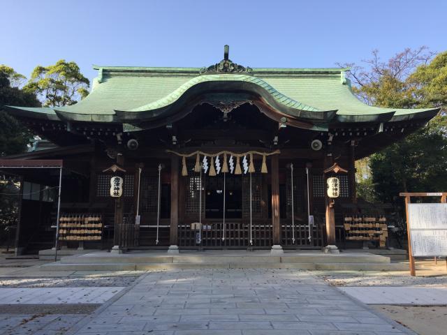 佐賀県唐津神社の本殿