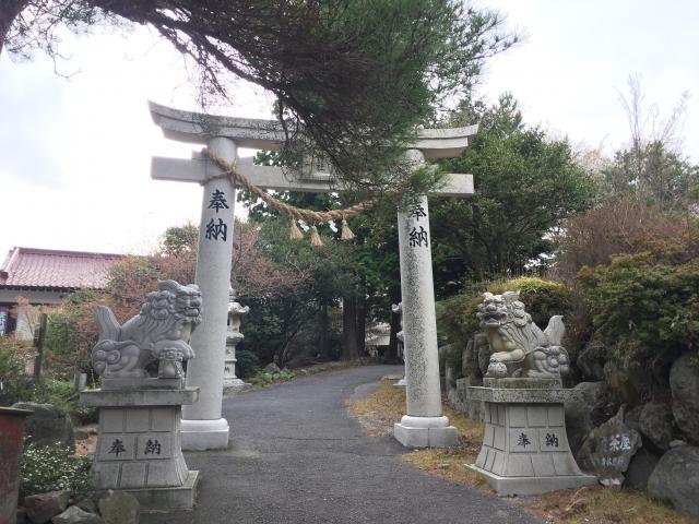 長崎県温泉神社の鳥居