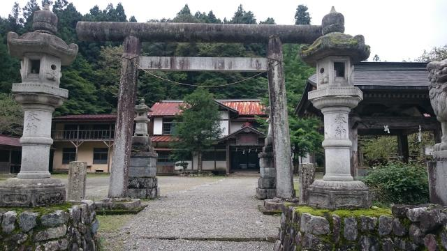 栃木県加蘇山神社の鳥居