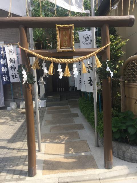 埼玉県剣神社の鳥居