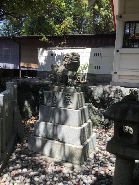 別小江神社(愛知県上飯田駅) - 狛犬の写真