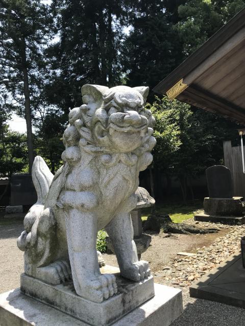 弘道館鹿島神社の狛犬