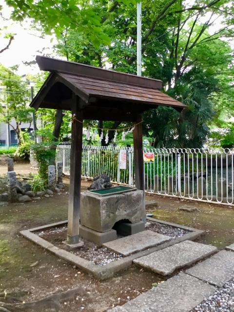 埼玉県浮島稲荷神社の手水