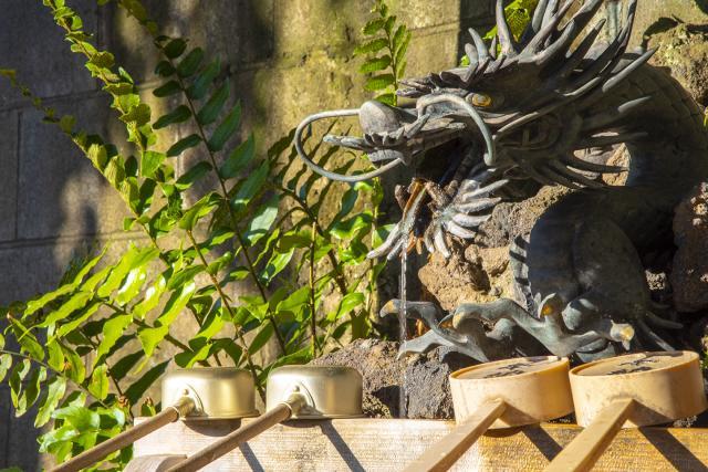久富稲荷神社の手水