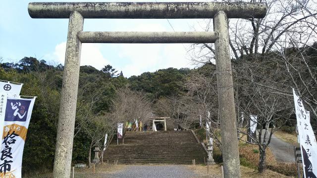 鹿児島県精矛神社の鳥居