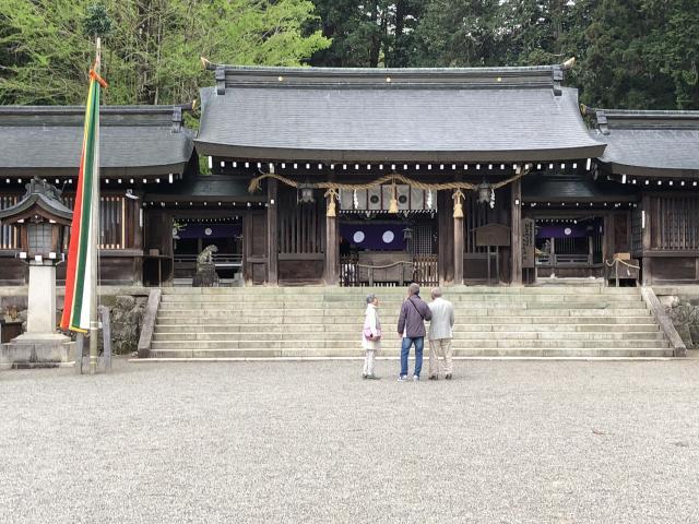 岐阜県飛騨一宮水無神社の本殿