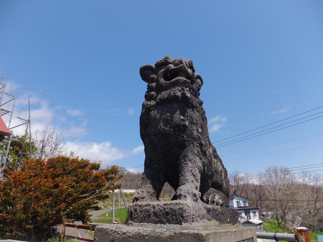 北海道厚田神社の狛犬