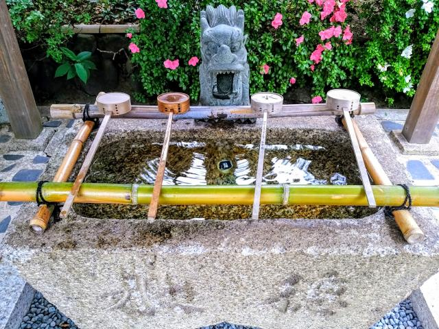 八柱神社の手水