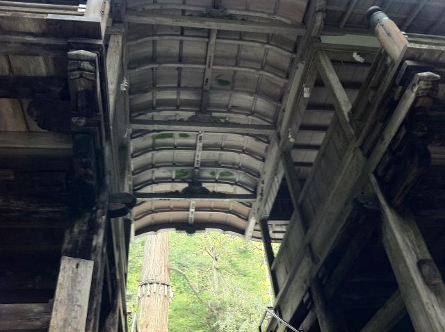 京都府由岐神社の山門