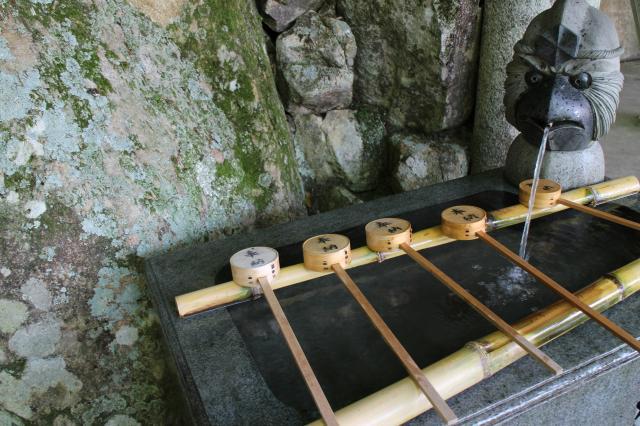 阿賀神社の手水