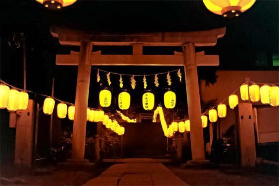 埼玉県中氷川神社の鳥居