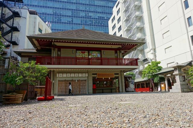 大阪府露天神社の本殿