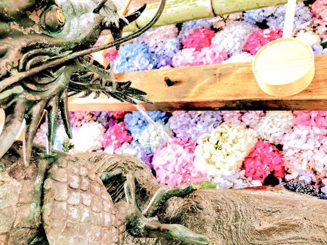 御裳神社の手水
