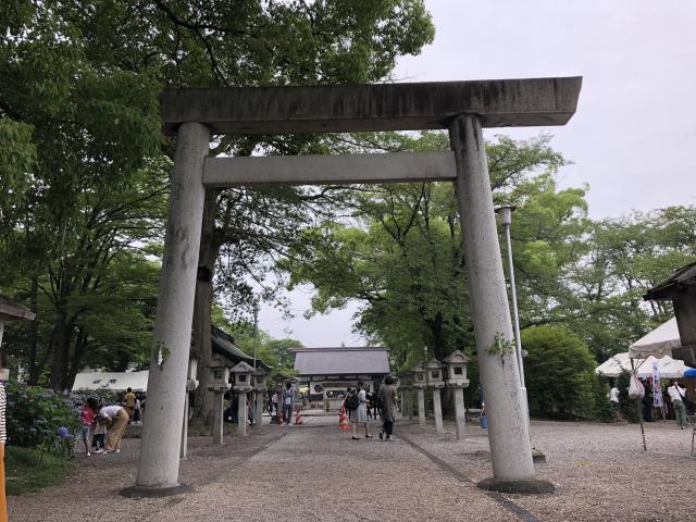 愛知県御裳神社の鳥居