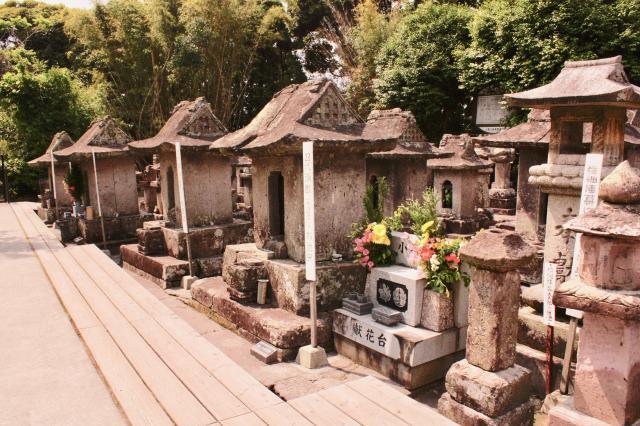 鹿児島県園林寺跡のお墓