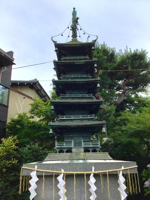 立石熊野神社(東京都青砥駅) - 塔の写真