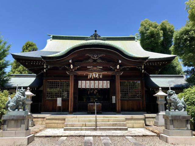 岐阜県溝旗神社(肇國神社)の本殿