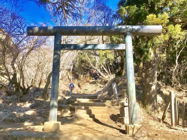 神奈川県大山阿夫利神社の鳥居