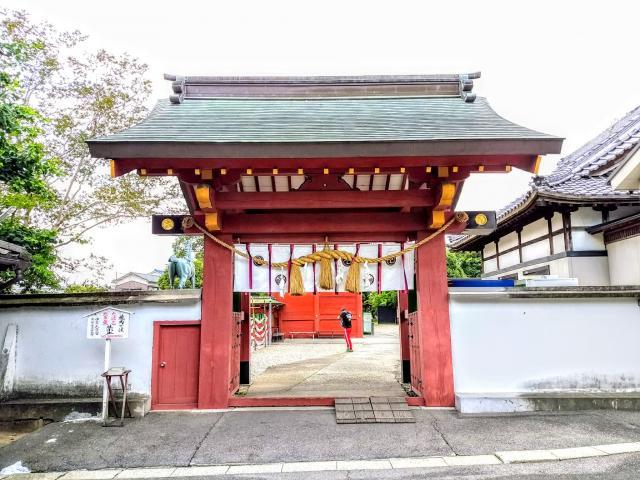 伊賀八幡宮(愛知県北岡崎駅) - 山門・神門の写真