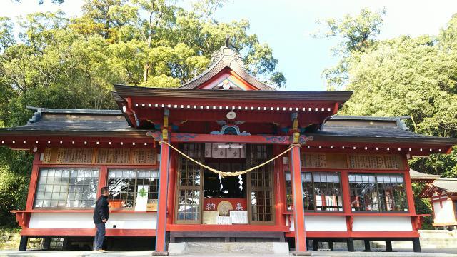 鹿児島県蒲生八幡神社の本殿