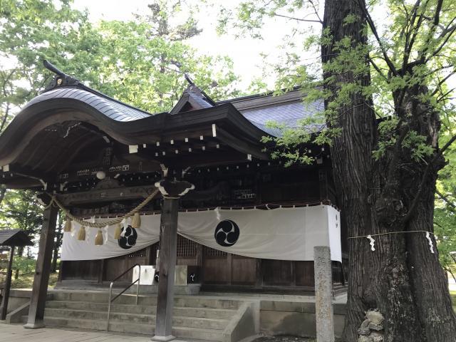 長野県川中島古戦場八幡社の本殿