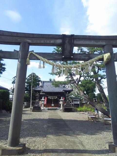 埼玉県佐谷田神社の鳥居