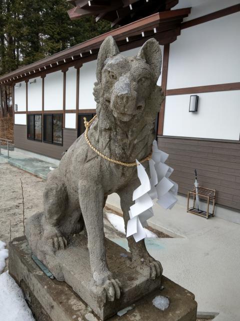 福島県山津見神社の狛犬