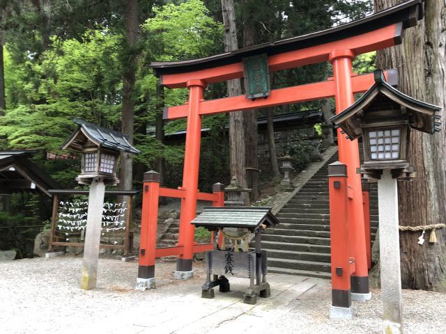 岐阜県日枝神社の鳥居