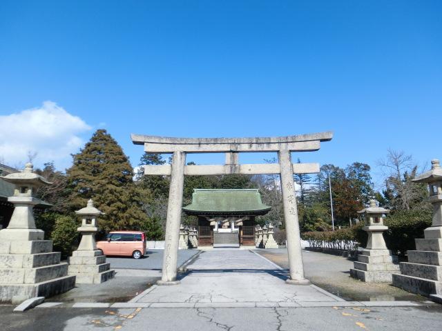 鳥取県勝田神社の鳥居