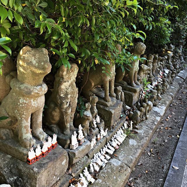 島根県城山稲荷神社の狛犬