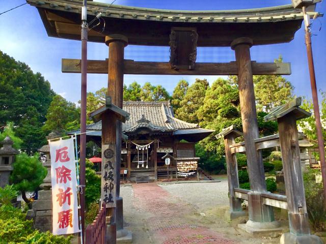 群馬県八坂神社の鳥居
