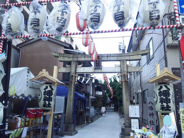 埼玉県高砂八幡神社の鳥居