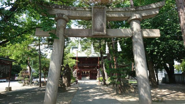 山梨県住吉神社の鳥居
