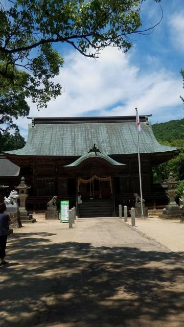 佐賀県與止日女神社の本殿