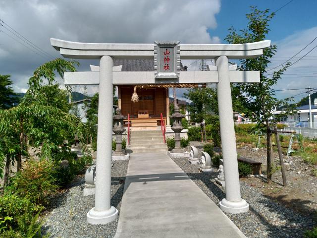 山神社(静岡県竪堀駅) - 鳥居の写真