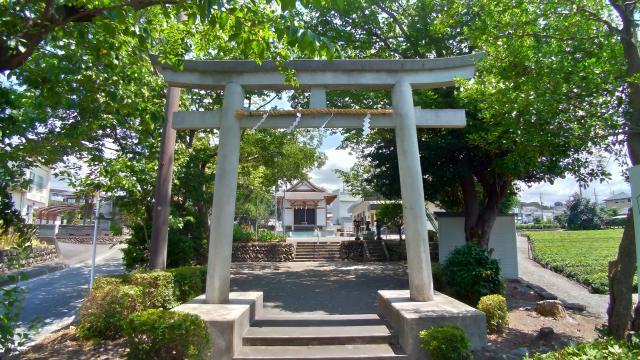 静岡県向原八幡宮の鳥居