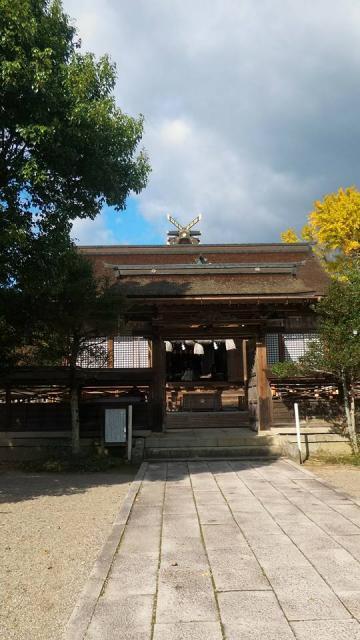 岡山県中山神社の本殿