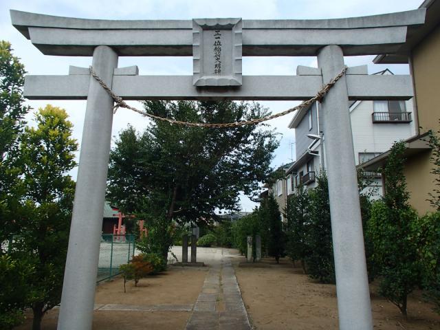 埼玉県七座下稲荷神社の鳥居
