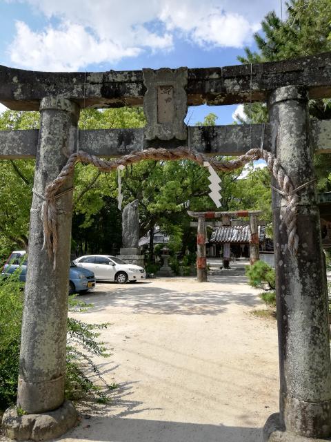 佐賀県堀江神社の鳥居