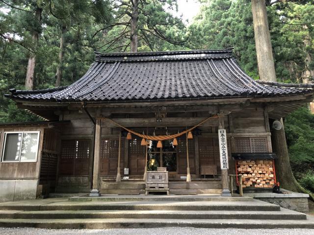 富山県雄山神社中宮祈願殿の本殿