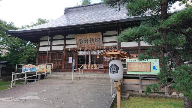 青森県諏訪神社の本殿