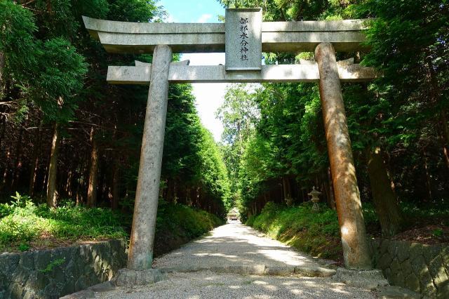 奈良県都祁水分神社の鳥居
