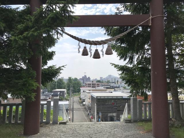 北海道上手稲神社の鳥居