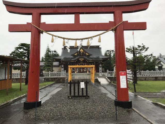 北海道美瑛神社の鳥居