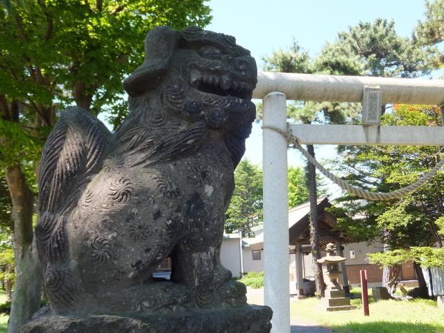 丘珠神社(北海道新道東駅) - 狛犬の写真