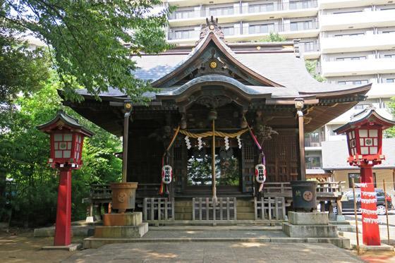 東京都江古田氷川神社の本殿